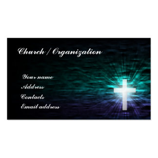 Cristianismo - cruz religiosa en la tarjeta del ag plantilla de tarjeta de negocio