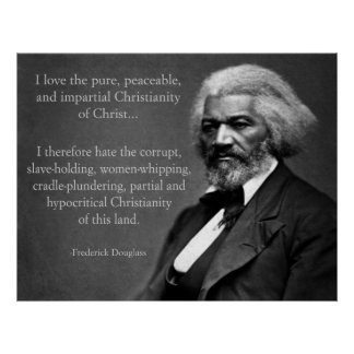 Cristianismo de Frederick Douglass Póster