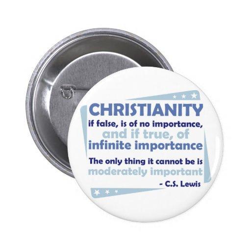 Cristianismo - de la importancia infinita pin redondo 5 cm