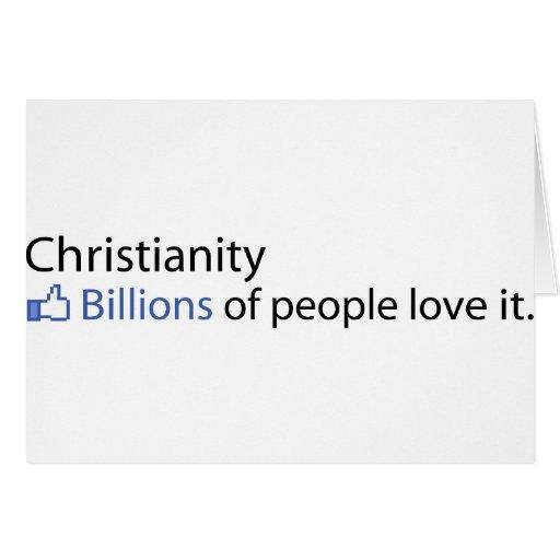 Cristianismo; Mil millones de amor de la gente él Tarjeton