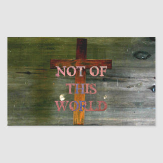 "Cristianismo ""Not of this World "" Rectangular Pegatina"