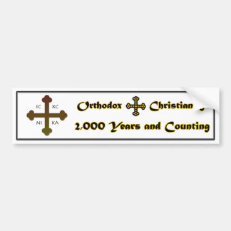 Cristianismo ortodoxo 2.000 años y cuenta etiqueta de parachoque