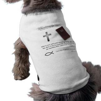 Cristianismo - ropa del mascota del paso playera sin mangas para perro