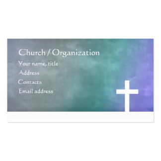 Cristianismo - tarjeta azul religiosa de la cruz d plantilla de tarjeta personal