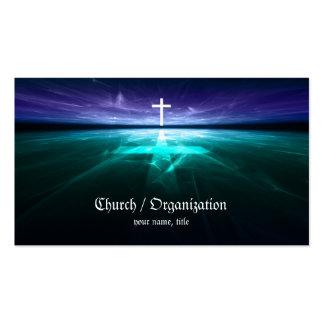 Cristianismo - tarjeta cruzada religiosa del horiz tarjetas de negocios