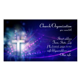 Cristianismo - tarjeta de visita cruzada brillante