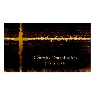 Cristianismo - tarjeta de visita oscura del tema d