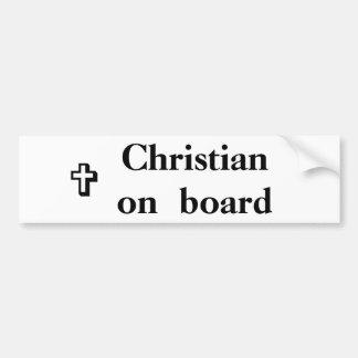 Cristiano a bordo etiqueta de parachoque
