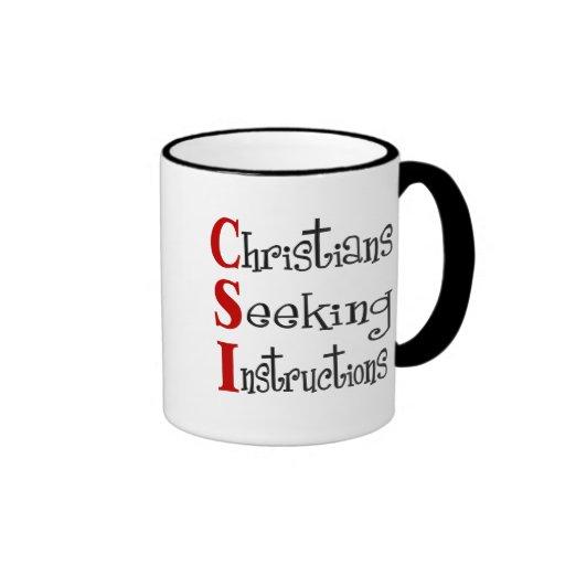 Cristiano Acronymn de CSI Tazas De Café