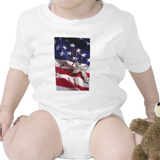 Cristiano americano traje de bebé