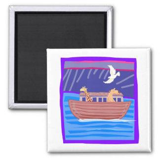 Cristiano artwork_2 de la arca de Noah Imán Cuadrado
