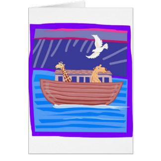 Cristiano artwork_2 de la arca de Noah Tarjeta De Felicitación