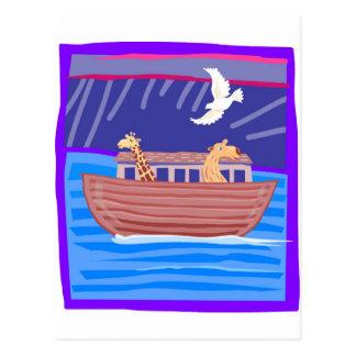 Cristiano artwork_2 de la arca de Noah Postal