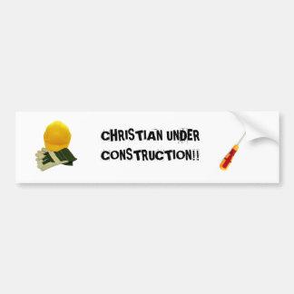 ¡CRISTIANO BAJO CONSTRUCCIÓN!! … Parachoque religi Pegatina Para Auto