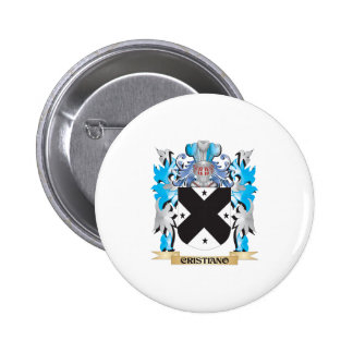 Cristiano Coat of Arms - Family Crest Pinback Buttons