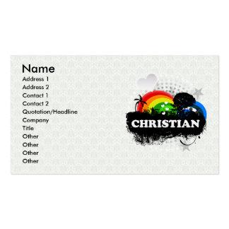 Cristiano con sabor a fruta lindo plantilla de tarjeta personal