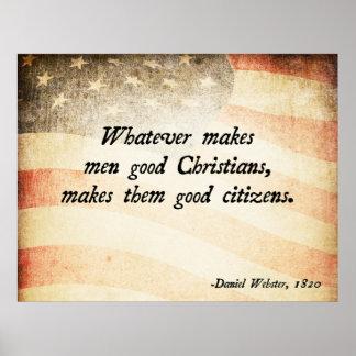 Cristiano de Daniel Webster Póster