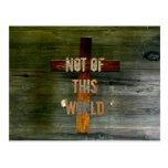 """Cristiano de encargo de """"Not of this World"""" Postal"""