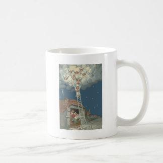 Cristiano de Jesús de la natividad del pesebre del Taza De Café