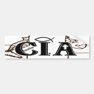 CRISTIANO DE LA CIA EN SIGLAS DE LA ACCIÓN PEGATINA PARA AUTO
