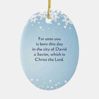 Cristiano de Lucas 2 de la historia del navidad Adorno Navideño Ovalado De Cerámica