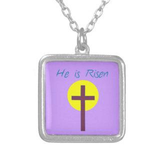 Cristiano de Pascua él es cruz subida con Sun Grimpolas Personalizadas