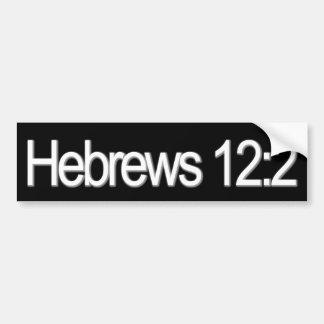 Cristiano del 12:2 de los hebreos pegatina para auto