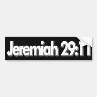 Cristiano del 29:11 de Jeremiah Pegatina Para Auto