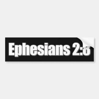 Cristiano del 2:8 de Ephesians Pegatina Para Auto