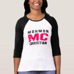 Cristiano del mormón de la bujía métrica camiseta