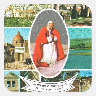 Cristiano del vintage, el papa Pablo VI en la Pegatina Cuadrada