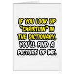 Cristiano en diccionario… mi imagen felicitación