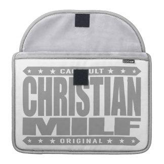 CRISTIANO MILF - Madre devota que quisiera a la fe Fundas Para Macbook Pro