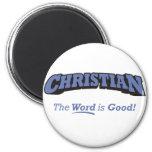 Cristiano/palabra Imán Para Frigorífico