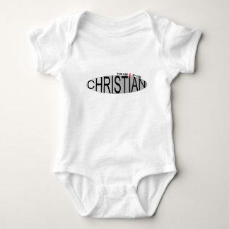 Cristiano para él de él bebé polera