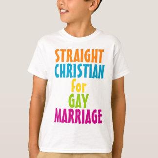 Cristiano recto para el matrimonio homosexual playera