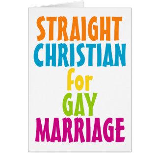 Cristiano recto para el matrimonio homosexual tarjeta de felicitación