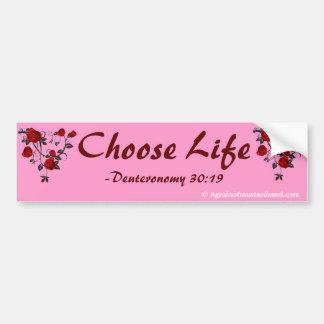 Cristiano rosado etiqueta de parachoque