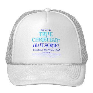 ¿Cristiano verdadero? Gorras De Camionero