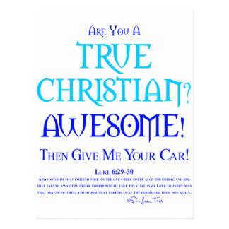 ¿Cristiano verdadero? Tarjetas Postales