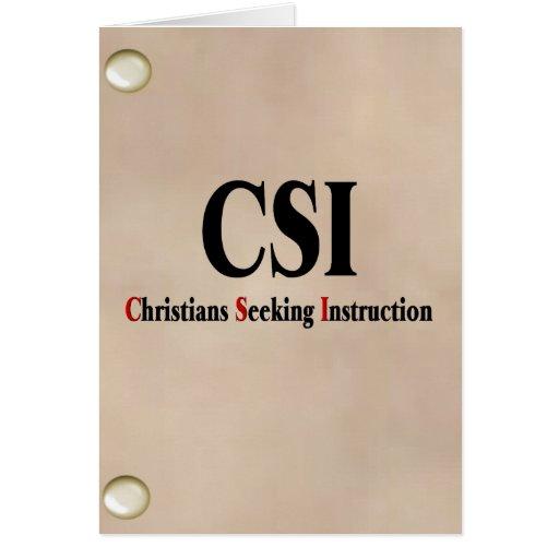 Cristianos de CSI Tarjeta De Felicitación