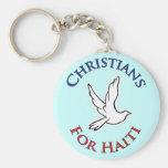 Cristianos del beneficio - para Haití Llaveros Personalizados