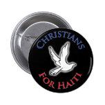 Cristianos del beneficio - para Haití Pin