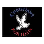 Cristianos del beneficio - para Haití Tarjetas Postales