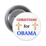 Cristianos para el botón de Obama 2012 Pins