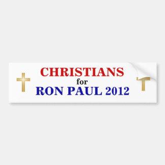 CRISTIANOS para el pegatina 2012 de PAUL Pegatina Para Auto