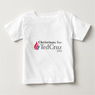 ¡CRISTIANOS para el presidente 2016 de Ted Cruz! Playera De Bebé