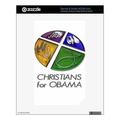 Cristianos para Obama 2012 NOOK Color Skin