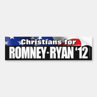 Cristianos para Romney/pegatina para el parachoque Pegatina De Parachoque