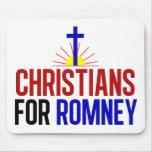 Cristianos para Romney Tapetes De Ratón